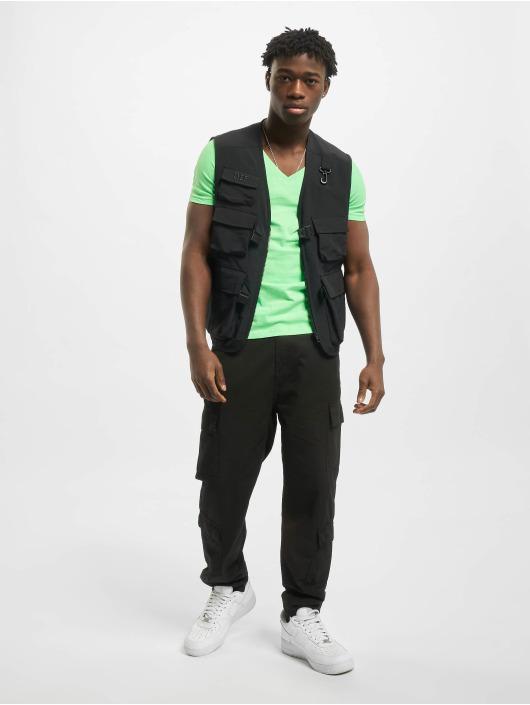 Urban Classics T-Shirt Neon V-Neck grün