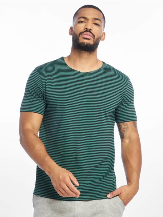 Urban Classics T-Shirt Yarn Dyed Baby Stripe grün