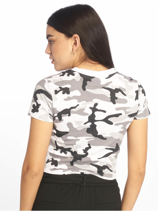 Urban Classics T-shirt Stretch Jersey Cropped kamouflage