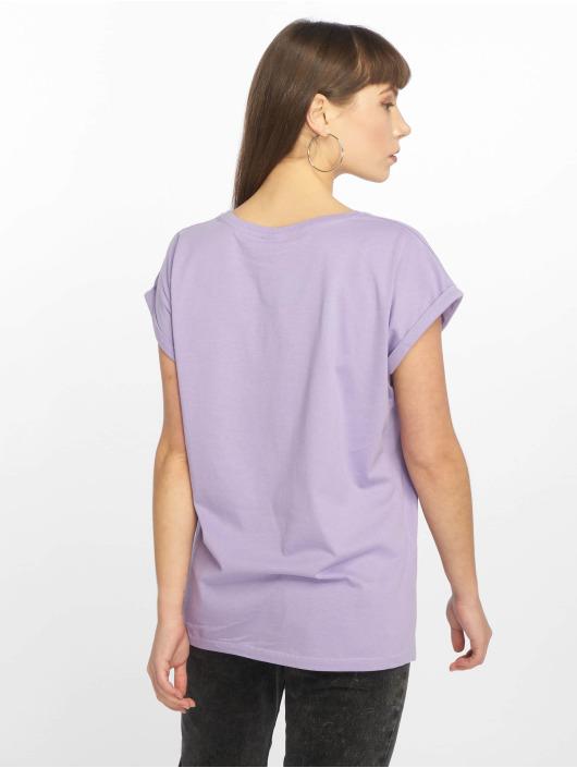 Urban Classics T-shirt Extended Shoulder lila