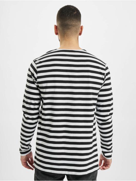 Urban Classics T-Shirt manches longues Regular Stripe LS blanc