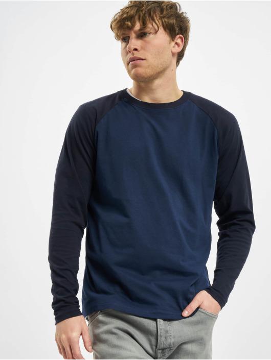 Urban Classics T-Shirt manches longues Raglan Contrast LS bleu