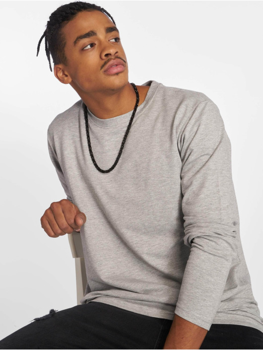 Urban Classics T-Shirt manches longues Stretch Terry gris