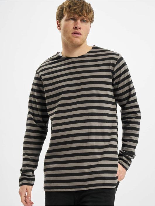 Urban Classics T-Shirt manches longues Regular Stripe LS gris