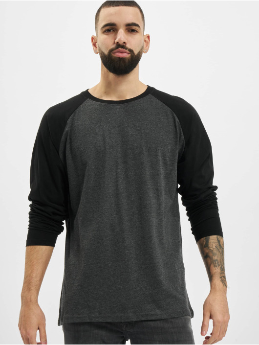 Urban Classics T-Shirt manches longues Raglan Contrast LS gris