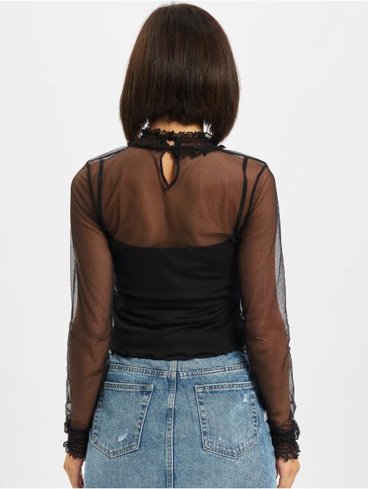 Urban Classics T-Shirt manches longues Double Layer Mesh noir
