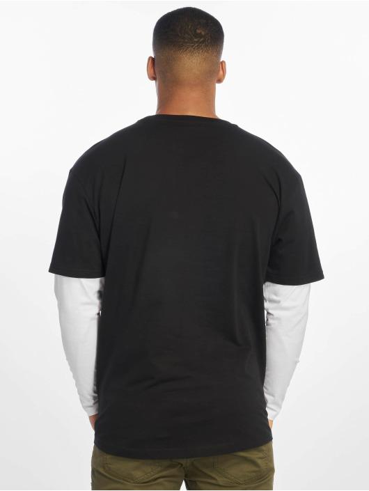 Urban Classics T-Shirt manches longues Oversized Shaped Double Layer noir
