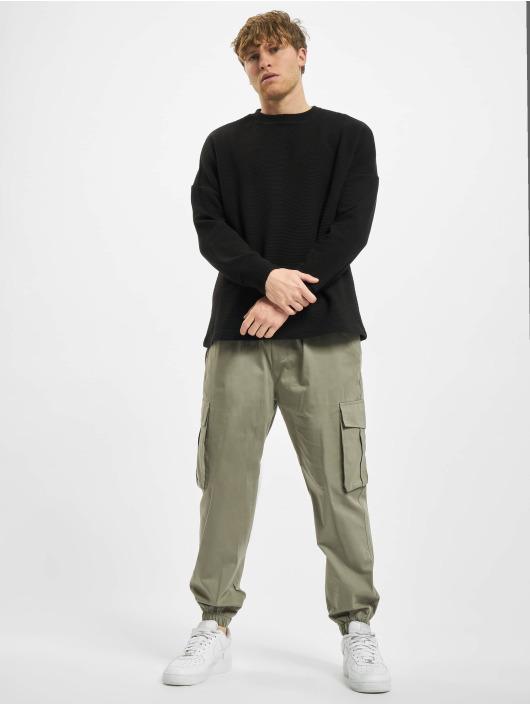 Urban Classics T-Shirt manches longues Cut On Sleeve Naps Interlock noir