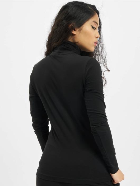 Urban Classics T-Shirt manches longues Ladies Basic Turtleneck LS noir