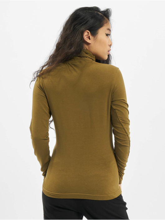 Urban Classics T-Shirt manches longues Ladies Basic Turtleneck LS olive