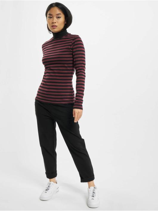 Urban Classics T-Shirt manches longues Ladies Y/D Turtleneck LS rouge