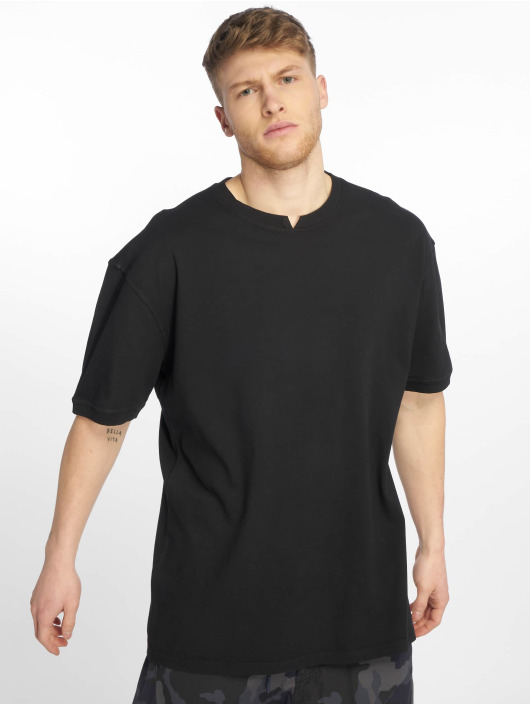 Urban Classics T-shirt Garment Dye Oversize Pique nero