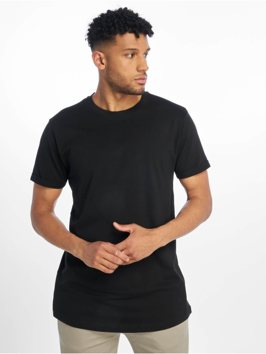 Urban Classics T-shirt Short Shaped Turn Up nero