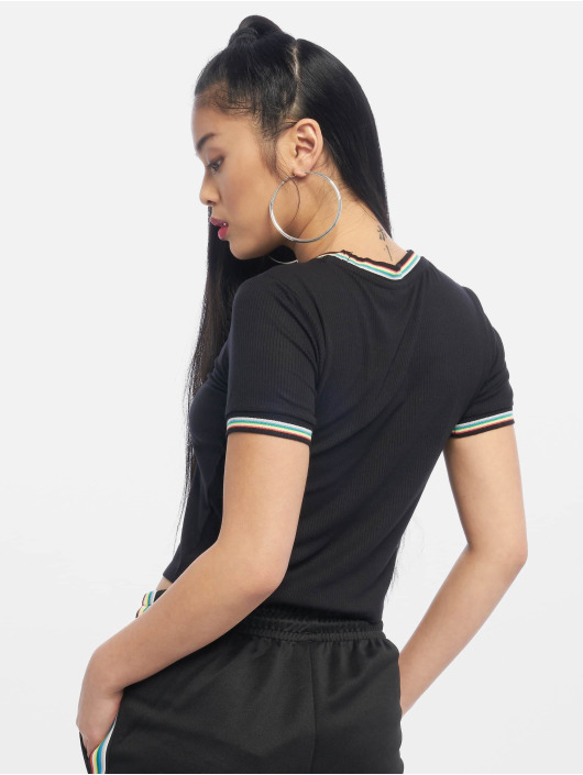 Urban Classics T-Shirt Short Multicolor Rib noir