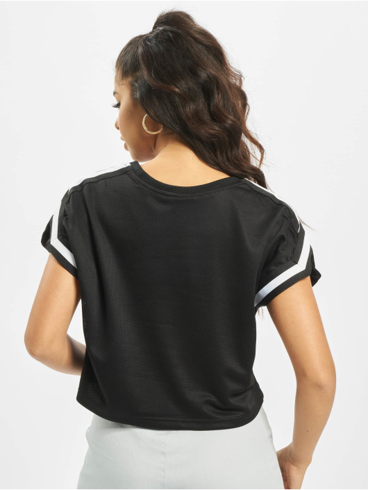 Urban Classics T-Shirt Short Stripes Mesh noir