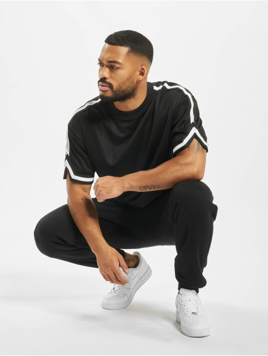 Urban Classics T-Shirt Oversized Stripes Mesh noir