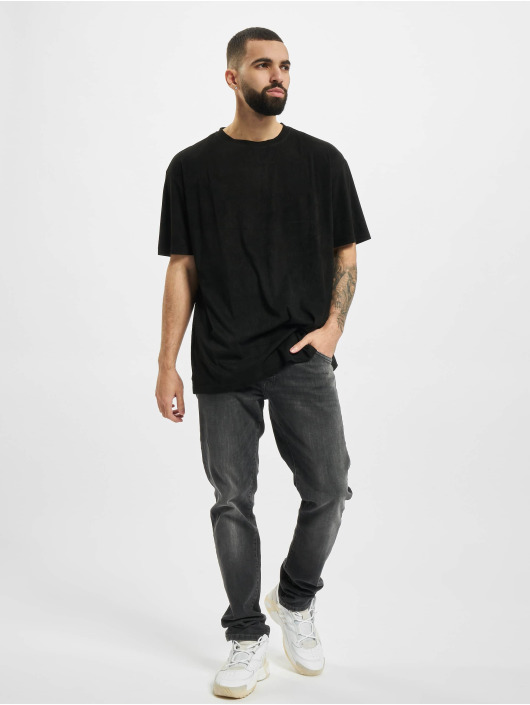 Urban Classics T-Shirt Oversized Peached Rib Tee noir