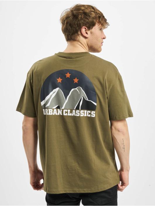 Urban Classics T-shirt Horizon Tee oliv