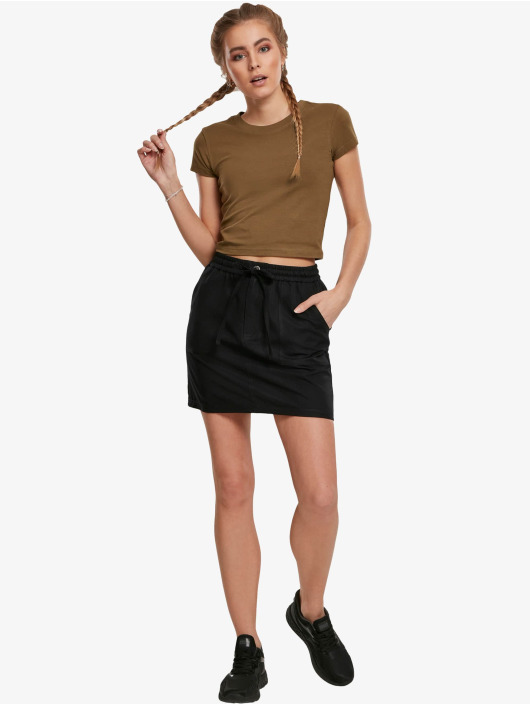 Urban Classics T-Shirt Stretch Jersey Cropped olive