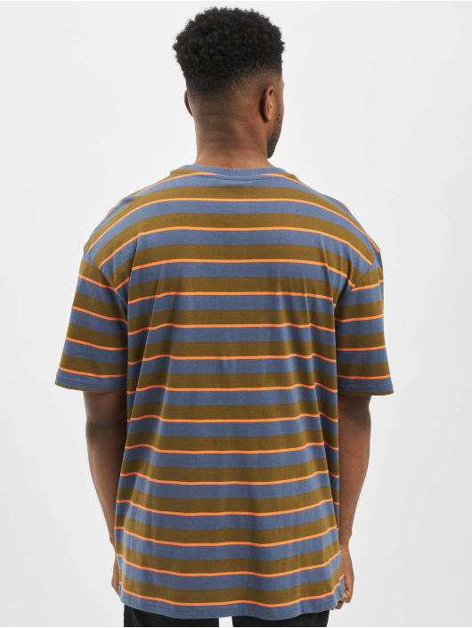 Urban Classics T-Shirt Yarn Dyed Oversized Board Stripe olive