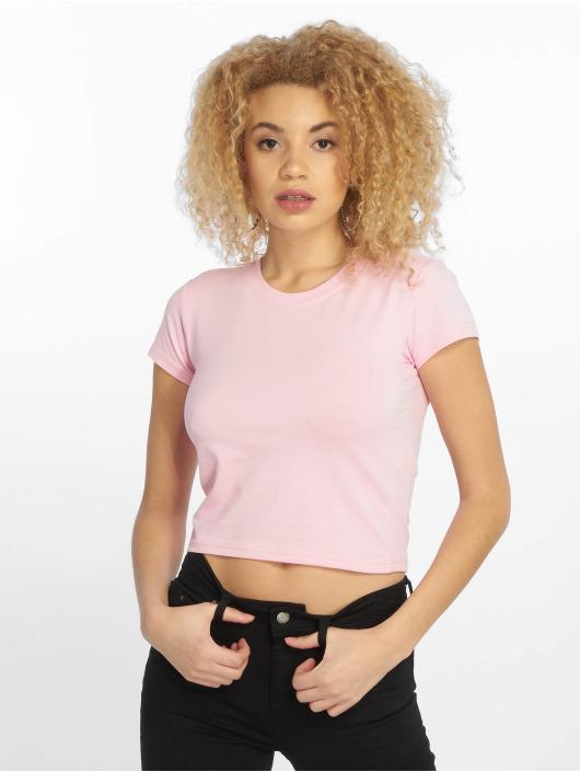 Urban Classics T-Shirt Stretch Jersey Cropped pink