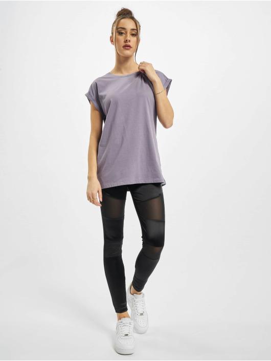 Urban Classics T-Shirt Ladies Extended Shoulder pourpre