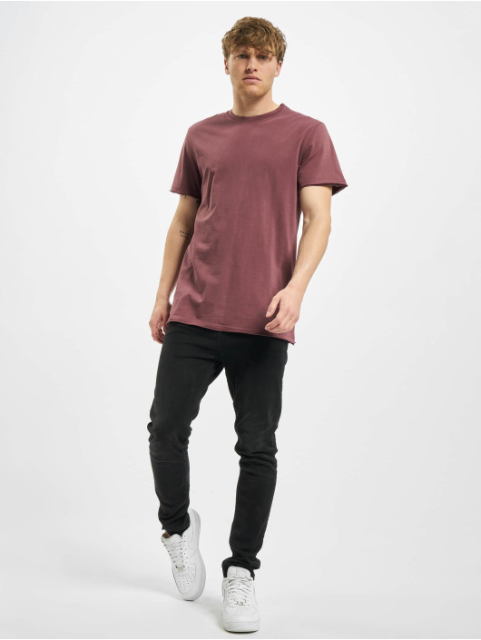 Urban Classics T-Shirt Open Edge Pigment Dyed Basic red