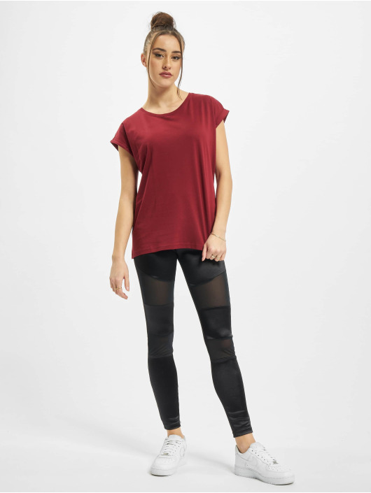 Urban Classics T-Shirt Ladies Organic Extended Shoulder Tee red