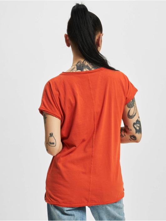 Urban Classics T-shirt Pigment Dye Cut Open röd
