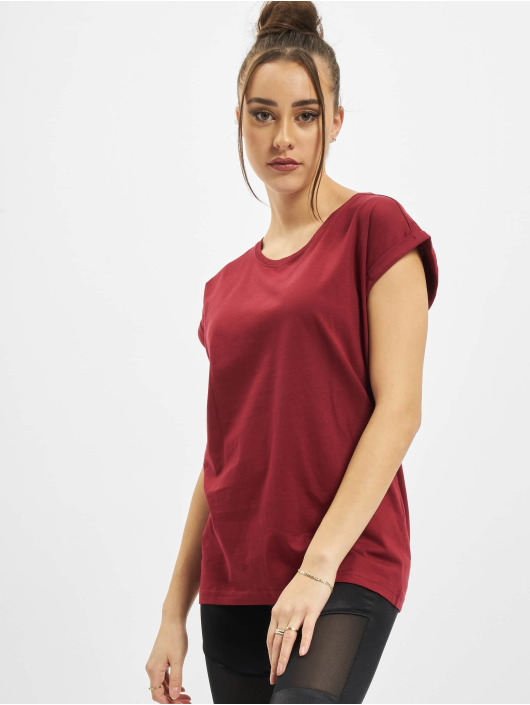 Urban Classics t-shirt Ladies Organic Extended Shoulder Tee rood