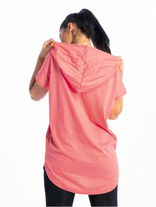 Urban Classics T-Shirt Jersey Hooded rosa