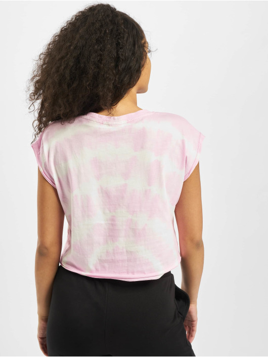 Urban Classics T-Shirt Short Tie Dye rose