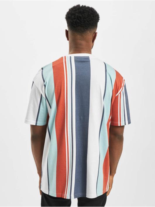 Urban Classics T-Shirt Heavy Oversized Big All Over Print Stripe rot