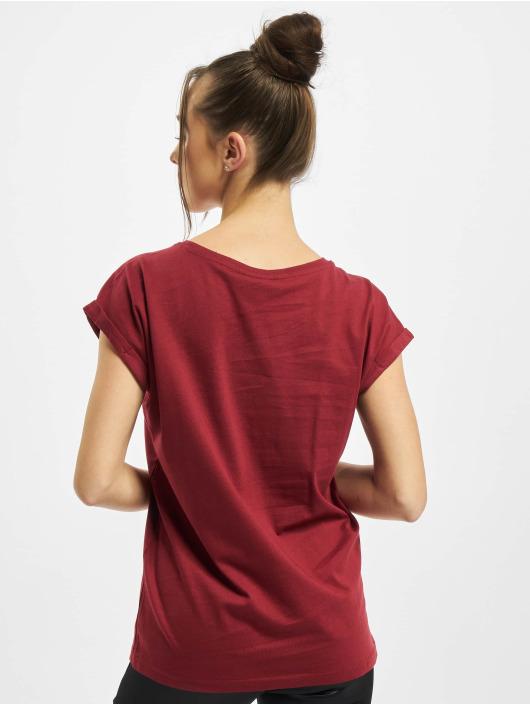 Urban Classics T-Shirt Ladies Organic Extended Shoulder Tee rot