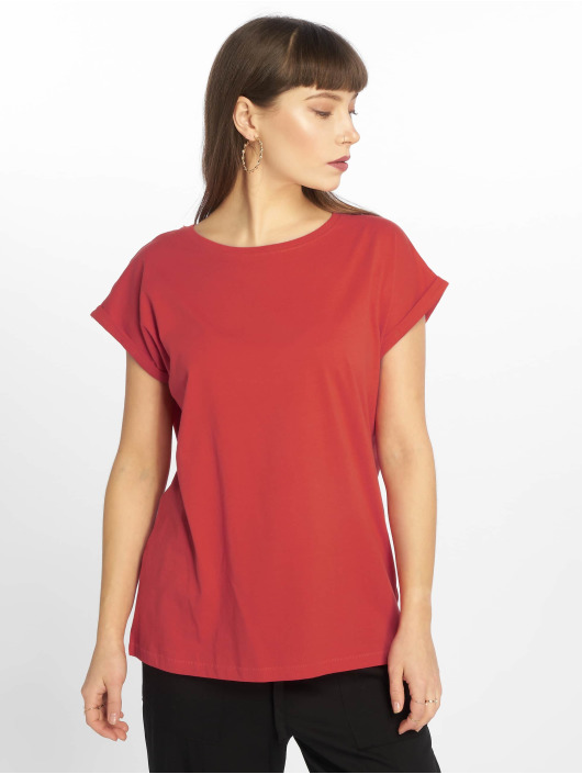 T Classics Shoulder Urban 638502 Rouge Extended Femme shirt bgY6f7yv