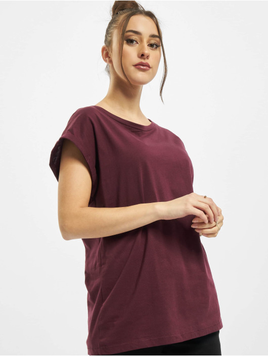 Urban Classics T-Shirt Ladies Extended Shoulder rouge