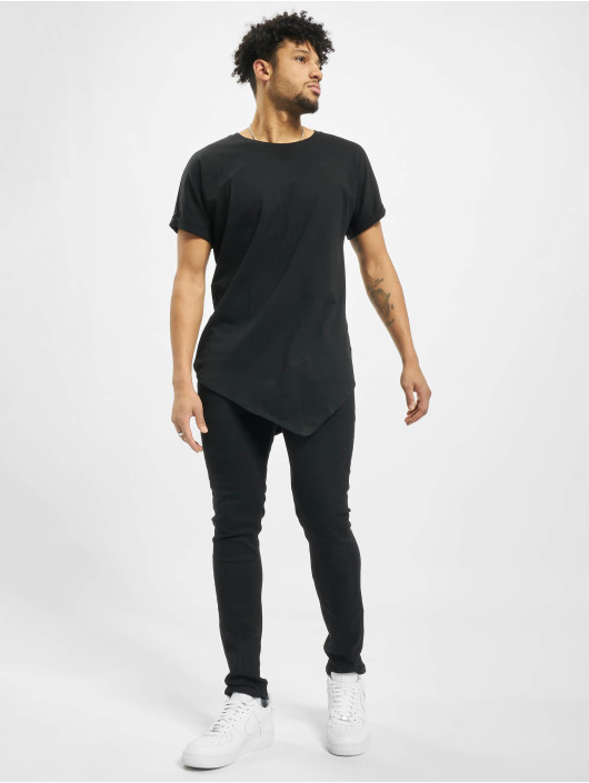 Urban Classics T-Shirt Asymetric Long schwarz