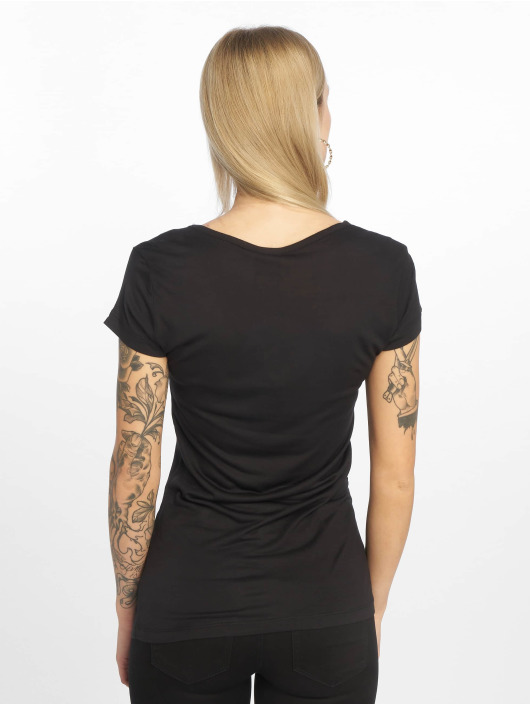 Urban Classics T-Shirt Ladies Basic Viscose schwarz