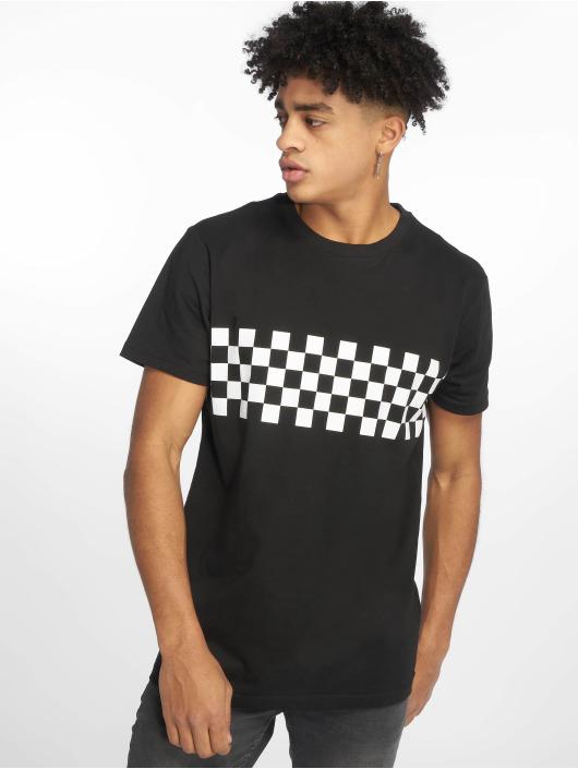 Urban Classics T-Shirt Check Panel schwarz
