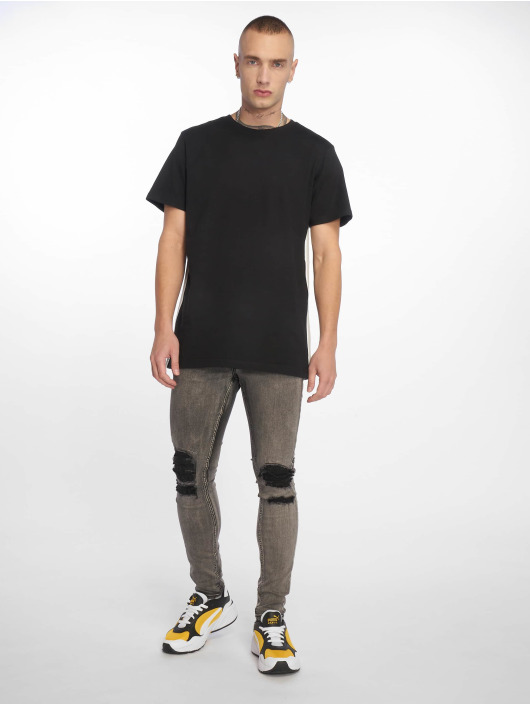 Urban Classics T-Shirt Side Taped schwarz