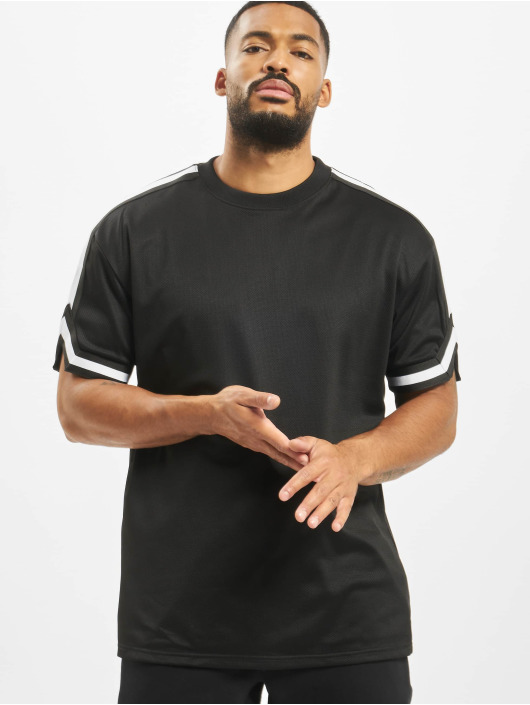 Urban Classics T-Shirt Oversized Stripes Mesh schwarz