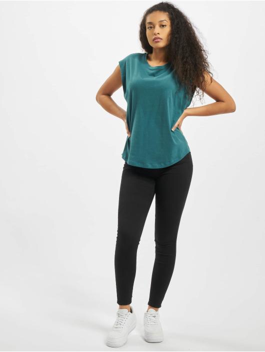 Urban Classics T-Shirt Ladies Basic Shaped türkis