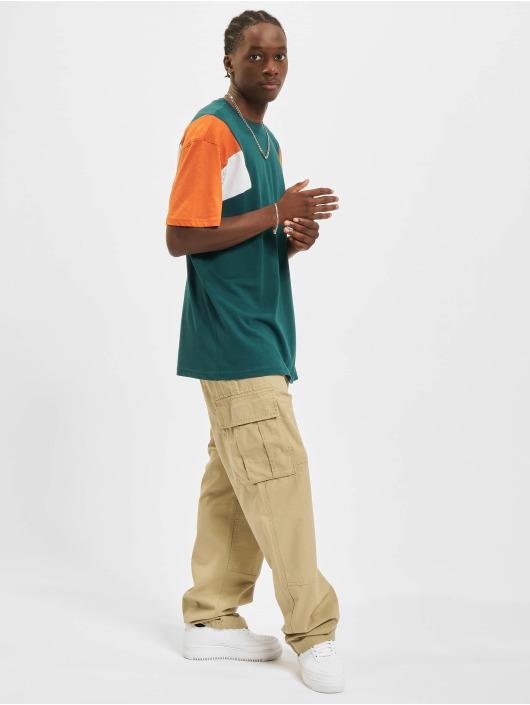 Urban Classics T-Shirt 3-Tone vert