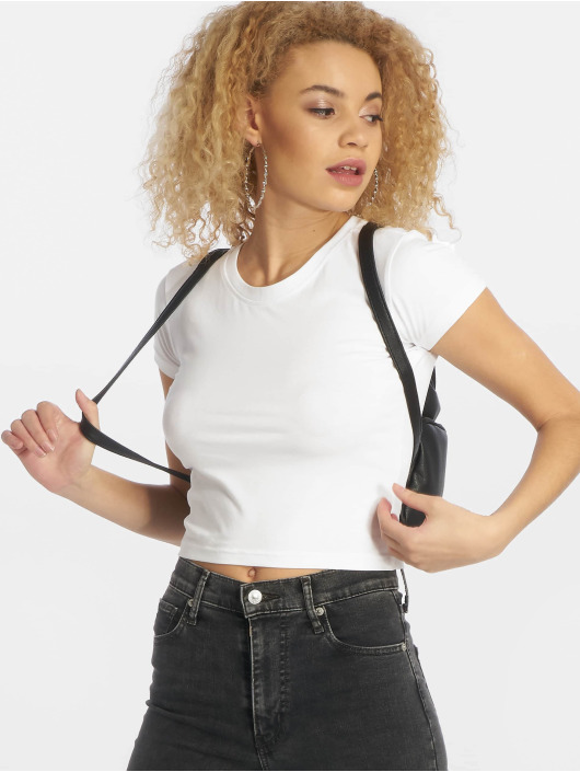 Urban Classics T-shirt Stretch Jersey Cropped vit