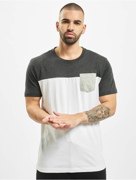 Urban Classics T-Shirt 3-Tone Pocket weiß