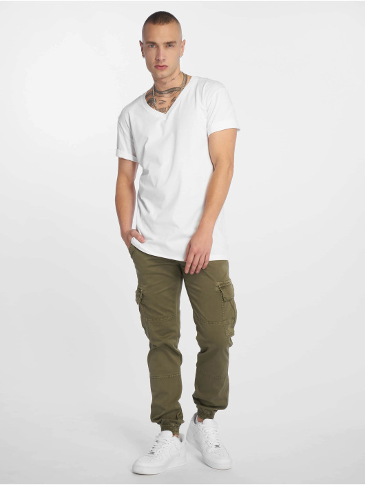 Urban Classics T-Shirt Basic V-Neck weiß