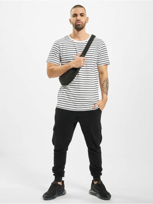 Urban Classics T-Shirt Striped weiß