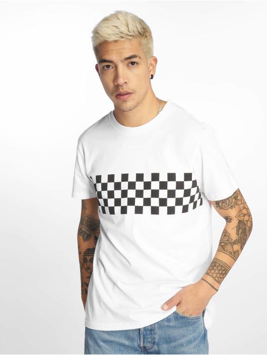 Urban Classics T-Shirt Check Panel weiß