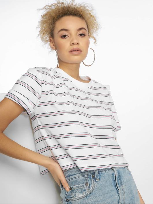 Urban Classics T-Shirt Short Multicolor Stripe weiß