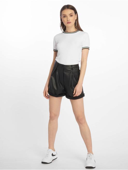 Urban Classics T-Shirt Short Multicolor Rib weiß